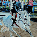 Determination - Horse And Rider - Horseshow Painting by Patricia Barmatz