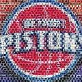 Detroit Pistons Mosaic by Paul Van Scott