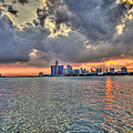 Detroit Sunset  by Nicholas  Grunas