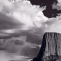 Devils Tower Wyoming Bw by Steve Gadomski