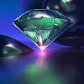 Diamond On Purple by Erik Tanghe