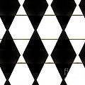 Diamonds White And Black by Marsha Heiken