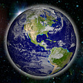 Digitally Generated Image Of Planet Earth by Calysta Images