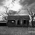 Dilapidated Old Farm House . 7d10341 . Black And White by Wingsdomain Art and Photography