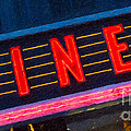 Diner Sign In Neon by Clarence Holmes