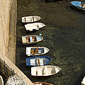 Dinghy's In Dubrovnik by Dave Saltonstall