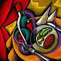 Dinner With Wine by Leon Zernitsky