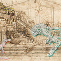 Dinosaur Battle by Marcus  Jules