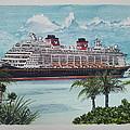 Disney Fantasy At Castaway Cay by John Cecil Smith
