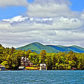 Distant Lake View In Spring by Susan Leggett
