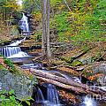 Distant Ozone Falls And Rapids In Autumn by Rich Walter