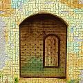 Do-00489 Old Door Within A Door-crackles by Digital Oil