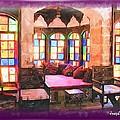 Do-00520 Emir Bachir Palace Interior-violet Bkgd by Digital Oil