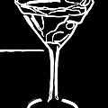 Do Not Panic - Drink Martini - Black by Wingsdomain Art and Photography