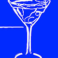 Do Not Panic - Drink Martini - Blue by Wingsdomain Art and Photography