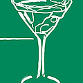Do Not Panic - Drink Martini - Green by Wingsdomain Art and Photography