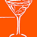 Do Not Panic - Drink Martini - Orange by Wingsdomain Art and Photography