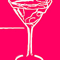 Do Not Panic - Drink Martini - Pink by Wingsdomain Art and Photography