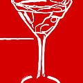Do Not Panic - Drink Martini - Red by Wingsdomain Art and Photography