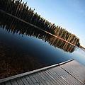 Dock On Northern Manitoba Lake by Mark Duffy