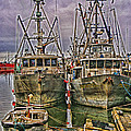 Docked Fishing Boats Hdr by Randy Harris