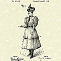 Dockham Bicycle Skirt 1896 Patent Art  by Prior Art Design