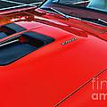 Dodge Super Bee Hood  In Red by Paul Ward