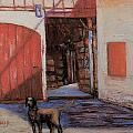Dog And Barn by Joyce A Guariglia