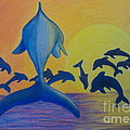 Dolphins Leaping by Bev Veals
