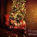 Door Opening Onto Nostalgic Christmas Scene   by Sandra Cunningham