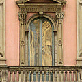 Doors Balcony And Duomo Reflection In Milan Italy by Greg Matchick