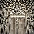 Doorway Of St. Ouen Church by Axiom Photographic