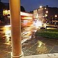 Double Decker Blur In The Rain by Anna Villarreal Garbis