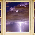 Double Lightning Strike Picture Window by James BO  Insogna