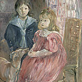 Double Portrait Of Charley And Jeannie Thomas by Berthe Morisot