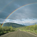 Double Rainbow Over The Denali Highway by Rich Reid