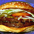 Double Whopper With Cheese And The Works - V2 - Painterly - Purple by Wingsdomain Art and Photography