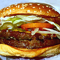 Double Whopper With Cheese And The Works - V2 - Painterly by Wingsdomain Art and Photography