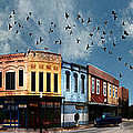 Downtown Bryan Texas 360 Panorama by Nikki Marie Smith