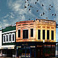 Downtown Bryan Texas Panorama 5 To 1 by Nikki Marie Smith
