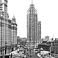 Downtown Chicago by Underwood Archives