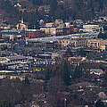 Downtown Grants Pass Sunday Morning by Mick Anderson