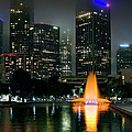 Downtown Los Angeles At Night by Endre Balogh