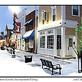 Downtown Waterville Decorated For The Holidays by Jack Schultz