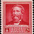 Dr Crawford W Long Postage Stamp by James Hill