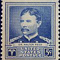 Dr Walter Reed Postage Stamp by James Hill