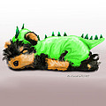 Dragon Baby Yorkie by Catia Lee