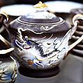 Dragon Satsuma Bowl by Marilyn Hunt