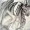 Dragonheart - Bw by Maria Urso