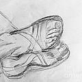 Drawing Class. Sandaled Feet by Caroline Street